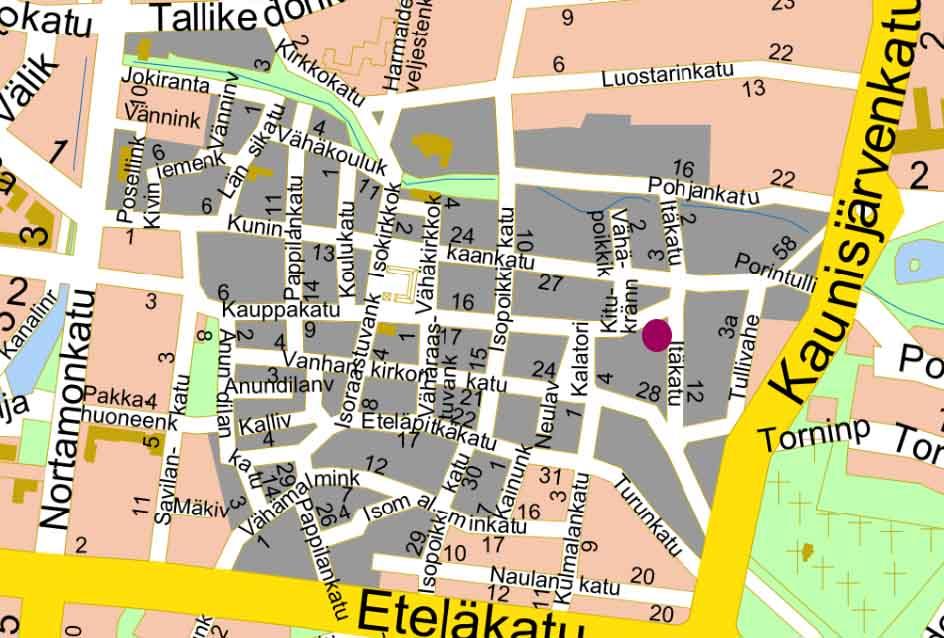 Vanha Rauma Kartta